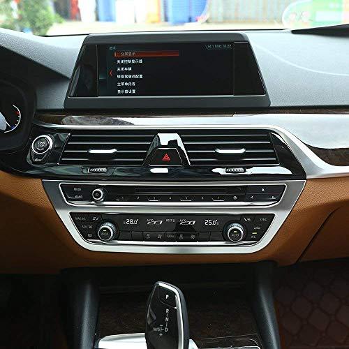 ABS プラスチック クローム インテリア センター エアコンフレーム アウトレット カバー トリム オートアクセサリー BMW 5 シリーズ G30 2017 2018用 マットシルバー
