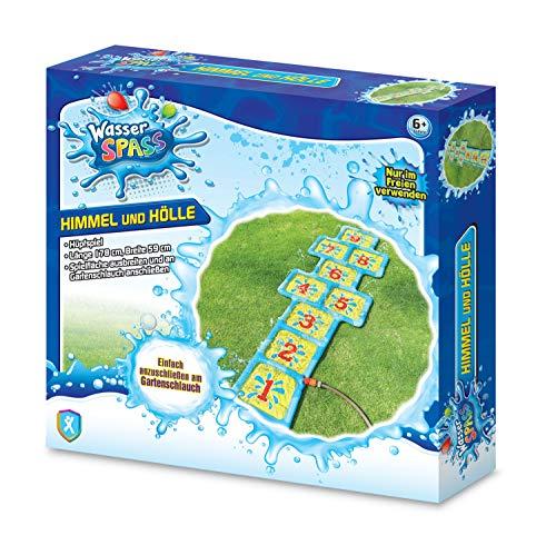 Xtrem Toys 00328 - Wasser Spaß Himmel-Hölle, Hüpfspiel, Hüpfmatte, spritziger Spielspaß für Kinder ab 6 Jahre, ideal für den Garten, im Sommer, einfach an den Gartenschlauch anschließen