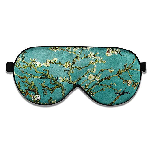 Alaska Bear Natural Silk Sleep Mask, Blindfold, Super Smooth Eye Mask (Blossom Almond)
