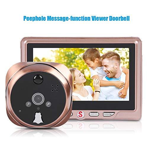 ASHATA Digitaler Türspion, 4,3 Zoll HD LCD-Bildschirm Türspion mit 120° Weitwinkelobjektiv,Wasserdicht HD-Kamera Türklingel Video Intercom Türspion mit Bewegungserkennung Nachtsicht (3500mHA)