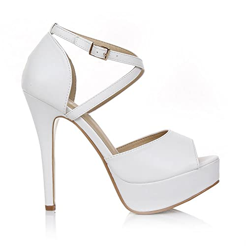 NUDE PATENT PEEP TOES STRAPPY SANDALS HIGH HEELS SHOES STILETTOS SIZE UK 3 4 5 6