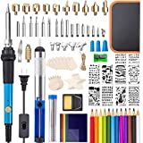 Wood Burning Kit, 96PCS Wood Burning Tool with Switch Adjustable Temperature 200~450°C Soldering Pyrography Pen for Beginners/Adults,Wood Burner Kit for Soldering, Embossing, Carving, DIY Creative