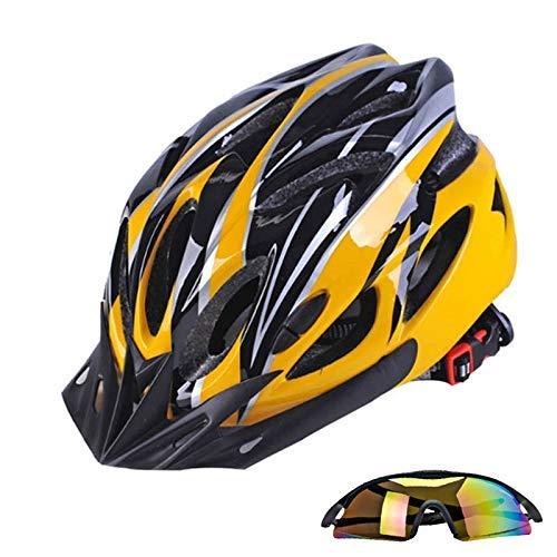 Casco de bicicleta, gorras de deporte gafas ciclismo casco de ciclista en...