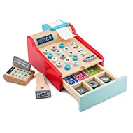 New Classic Toys 10650 Wooden Cash Register Set Pretend Play Kids Cooking Simulation Educational Col...