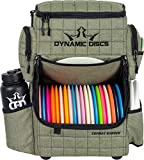 Dynamic Discs Combat Ranger Disc Golf Backpack   Large Main Compartment That Can Hold 18+ Discs   On-Deck Frisbee Golf Putter Pouch   Padded Back Panel and Straps for Extra Comfort (Olive)