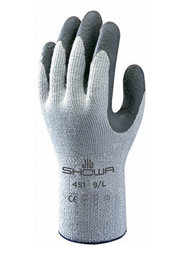 Showa Handschuhe sho451-l Nr. 451Thermo Grip Handschuh, Größe: L, Grau/Dunkelgrau (2Stück)