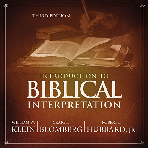Introduction to Biblical Interpretation: Audio Lectures cover art