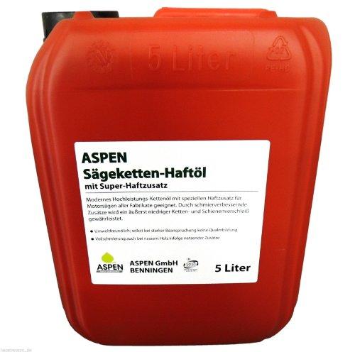 5 Liter ASPEN mineralisches Kettenöl Sägeketten-Haftöl Sägekette Kettensäge