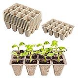 Paquete de 10 semilleros biodegradables,Bandejas biodegradables para...