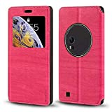 Asus ZenFone Zoom ZX551ML Case, Wood Grain Leather Case with Card Holder and Window, Magnetic Flip Cover for Asus ZenFone Zoom ZX551ML