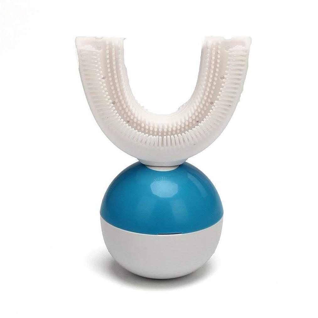 書道好戦的な囚人IPO 電動歯ブラシ 360°自動歯ブラシ U型 音波 自動 ワイヤレス充電 成人 怠け者 ユニークなU字型のマウスピース わずか10秒で歯磨き 自動バブル 2本の歯ブラシヘッド付き あなたの手を解放 磁気吸引接続 歯ブラシ ホワイト