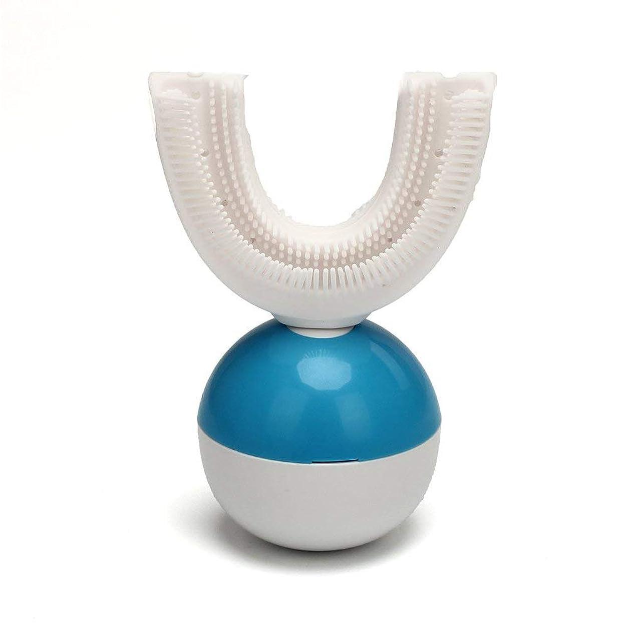 小屋エンドウパースIPO 電動歯ブラシ 360°自動歯ブラシ U型 音波 自動 ワイヤレス充電 成人 怠け者 ユニークなU字型のマウスピース わずか10秒で歯磨き 自動バブル 2本の歯ブラシヘッド付き あなたの手を解放 磁気吸引接続 歯ブラシ ホワイト