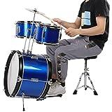 Mxzzand Responsive Kids Jazz Drum Set Juego de Instrumentos Musicales Multifuncional para instrumentistas Musicales para niñas
