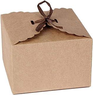 Rect/ángulo Caja de Regalo de Regalo de Boda con Cuerda de C/á/ñamo para Bodas Cumplea/ños Fiesta de Bienvenida para Beb/és Favor Caja de Papel Kraft de 50 Piezas Marr/ón 2x2x2 Pulgadas