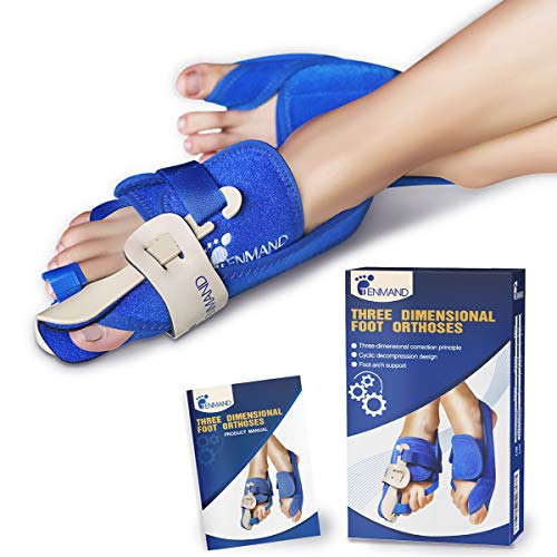 TENMAND Best Three-Dimensional Bunion Correctors and Toe Straighteners Bunion Splint for Big Toe Night Time Hallux Valgus Corrector Splints for Bunion Relief for Woman and Man (Right, Medium)