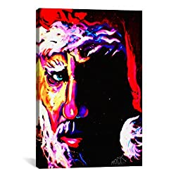 iCanvasART Santa 1 001 Signed by Rock Demarco Canvas Art Print