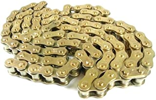 Autools 420 Motorcycle Chain 420 Standard Roller Chain 132 Link for 110cc 125cc Dirt Moto Bike Quad TaoTao ATV with Chain Breaker