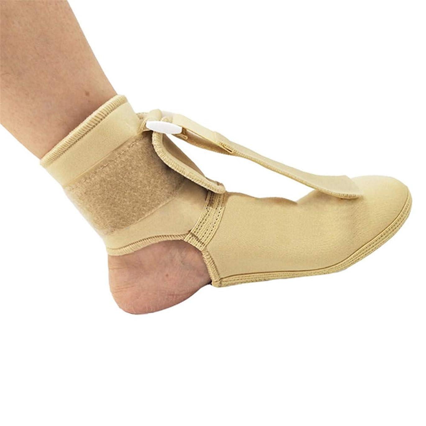 シャンパンエンドウ挑む足首保護、関節サポート、調節可能なフットドロップ矯正装具足の痛みの軽減スプリント足首スプリントサポートナイトスプリント,L