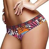 Artístico Tropical Verde Cactus Hipster Mujeres Ropa Interior Briefs Algodón Suave Baja Altura Stretch Bikini Bragas Para Damas, Multicolor 03, M