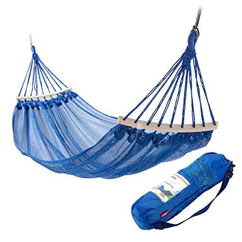 Camping hangmat draagbare dubbele hangmat comfortabel en ademend swing slapen hangmat outdoor overdekte tuin wandelen accessoires bed