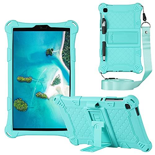Funda para tablet Samsung Galaxy Tab A7 Lite 8.7 '' SM-T220/T225 Slim Soft Silicona a prueba de golpes Cuerpo completo Funda Protectora Funda Stylus Pen & Correa de hombro