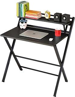 طاولة قابلة للطي، مكتب الكمبيوتر، سطح المكتب، طاولة بسيطة قابلة للطي، مكتب، مكتب منزلي بسيط، طاولة صغيرة متعددة الوظائف (ا...