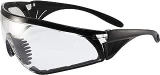 Global Vision Rattlesnake Padded Motorcycle Safety Sunglasses Black Frame Clear Lens ANSI Z87.1