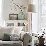QAZQA Clásico/Antiguo Lámpara de pie clásica acero pantalla gris flexo - RETRO Textil/Acero Alargada Adecuado para LED Max. 1 x 60 Watt