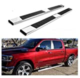 Refineon Running Boards for 2019-2021 New Body (NOT for 2019-2021 Classic) Ram 1500 Crew Cab Nerf Bars Side Steps Side Bars (6