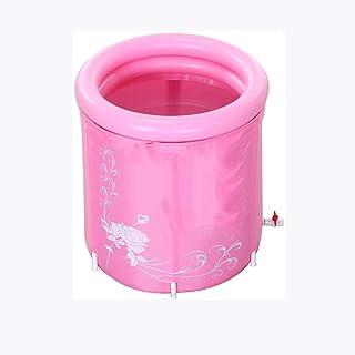 CCDDP Pink Inflatable Bathtub - Household Modern Environmental Friendly Foldable Bath Bucket