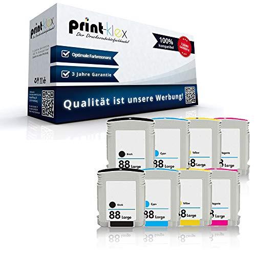 Print Klex 8X kompatible Tintenpatronen kompatibel fur HP Officejet Pro K550 N K550N K550 DTN K550 DTWN K5300 K5300 DN K5300 DTN K5400 K5400 DN K5400 DTN L7000 L7480 L7580