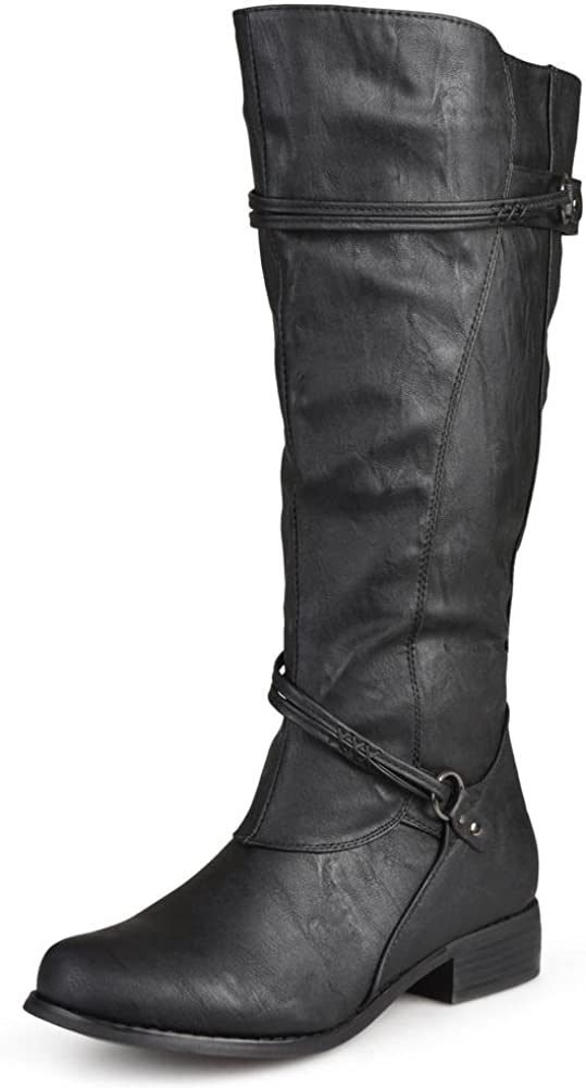 Journee Collection Womens Regular Ankle-Stra Sized Wide-Calf Under Limited price blast sales and