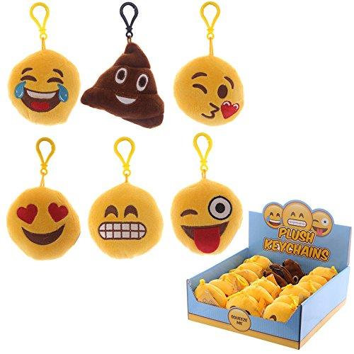TrendandStylez Schlüsselanhänger Emoji Lach Smiley Kissen 13 Designs 5cm (1)