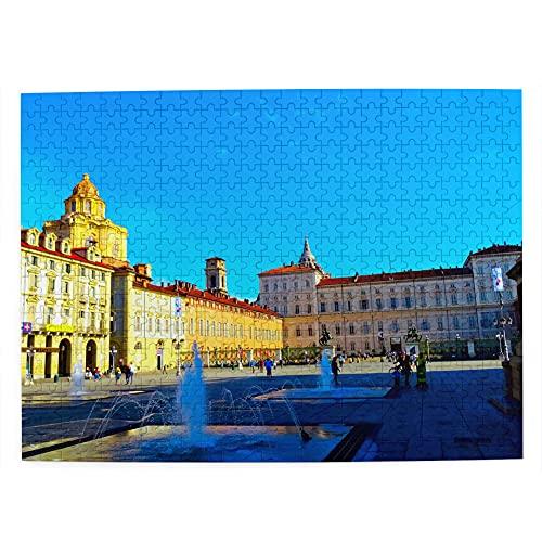 Italia San Carlo Square Torino Jigsaw Puzzle 500 Pezzi per Adulti Bambino Regalo Viaggio Regalo Souvenir 51,8 x 38,1 cm (FX03259)