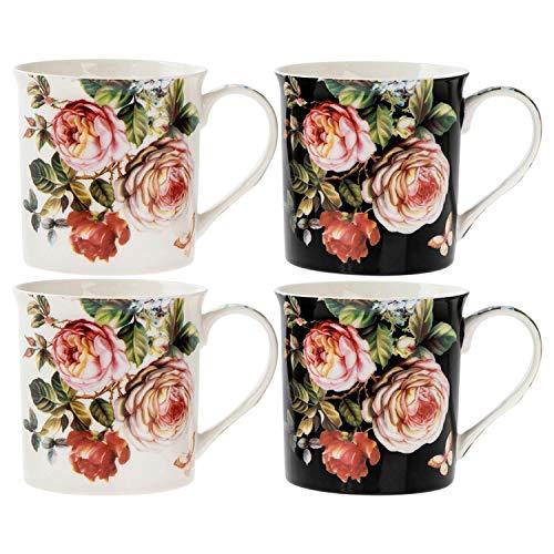 Lesser & ‿Pavey LP93694 Lot de 4 Mugs Damas Rose