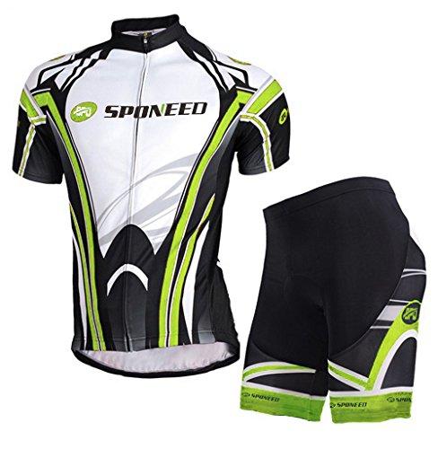 Bicycle Jersey Set Mens Cycling Chothes Short Sleeve Padded Shorts Riding Pants Spandex Asian 3XL/ US XXL Multi