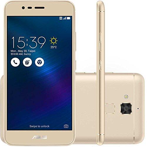 Smartphone Asus Zenfone 3 Max Dourado 16GB Dual Chip Tela 5.2 Processador MidiaTek Câmera 13MP