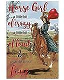 AZSTEEL Horse Girl A Little Bit of Crazy | Poster No Frame