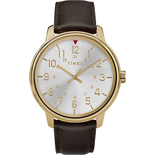 Reloj Timex para Hombres 43mm, pulsera de Piel