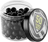 100 x Premium Quality Hard Rubber Balls Paintballs Reballs 50 Cal. HDR50 T4E Paintball Shooting Self Defense Billes Calibre .50 - Caoutchouc