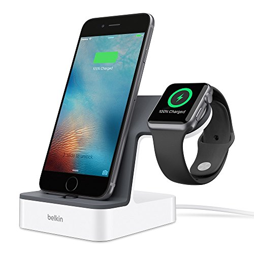 Belkin PowerHouse Ladestation (geeignet für iPhone XS, XS Max, XR, X, 8/8 Plus und andere Modelle, Apple Watch Series 4, 3, 2, 1)