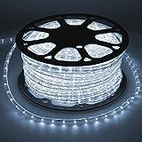 ECD Germany LED Tube lumière guirlande 50m blanc froid protection IP44 36 lampes à LED par mètre classe énergétique A+ non dimmable CA 220-240V décoration intérieure extérieure fête noël set complet
