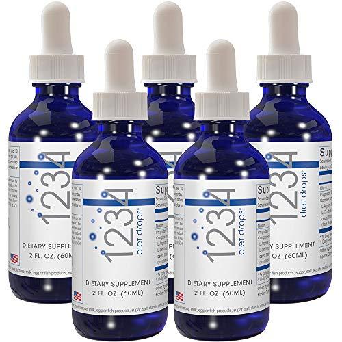 Creative Bioscience 1234 Diet Drops (5 Pack) - Weight Loss Drops - Original Amino Complex - Keto Diet - Intermitted Fasting - 1234 Diet, 2 Fl Oz (5 Pack)…