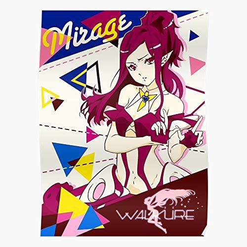 Jenius Mirage Walk黵e Macross Farina Walkure Hayate Delta Regalo para la decoración del hogar Wall Art Print Poster 11.7 x 16.5 inch