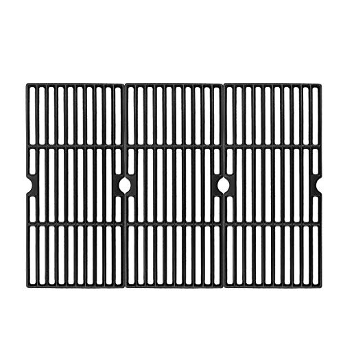 Hisencn Grill Grates Replacement for Charbroil Advantage 463343015, 463344116, Kenmore, Broil King and Others Gas Grill Models, G467-0002-W1, 16 15 16  Cast Iron Cooking Grids, 3-Pack