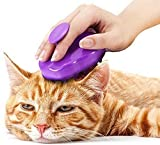 Cepillo para Gatos con Púas Extra Suaves de Silicona – Cepillo de Masaje para Limpieza y Caída del Pelo Apto para Pelo Corto y Largo