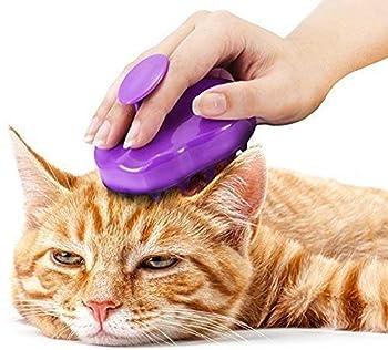 Brosse en Silicone Extra Doux pour Chat – Brosse de Massage & toilettage pour Poil Court et Long