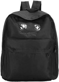 Leng QL Personality Backpacks Cartoon Eyes Pattern Backpack Cute Casual Student Schoolbag Rucksack