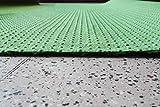 Rasenteppich Kunstrasen Standard grün Velours Weich Meterware, verschiedene Größen, mit Drainage-Noppen, wasserdurchlässig (300x400 cm) - 2