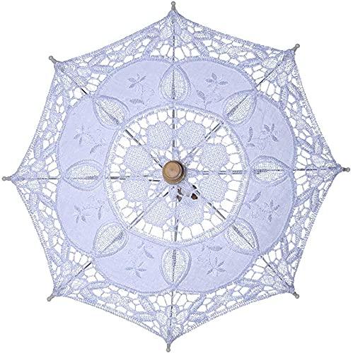 RosieLily Mujer Manual Abriendo Boda Parasol Parasol Paraguas Hueco Fuera Bordado Encaje...
